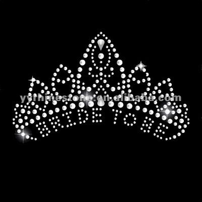 Bride to be crown custom rhinestone designs
