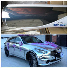 High glossy high stretchable car wrap chrome without air bubble free