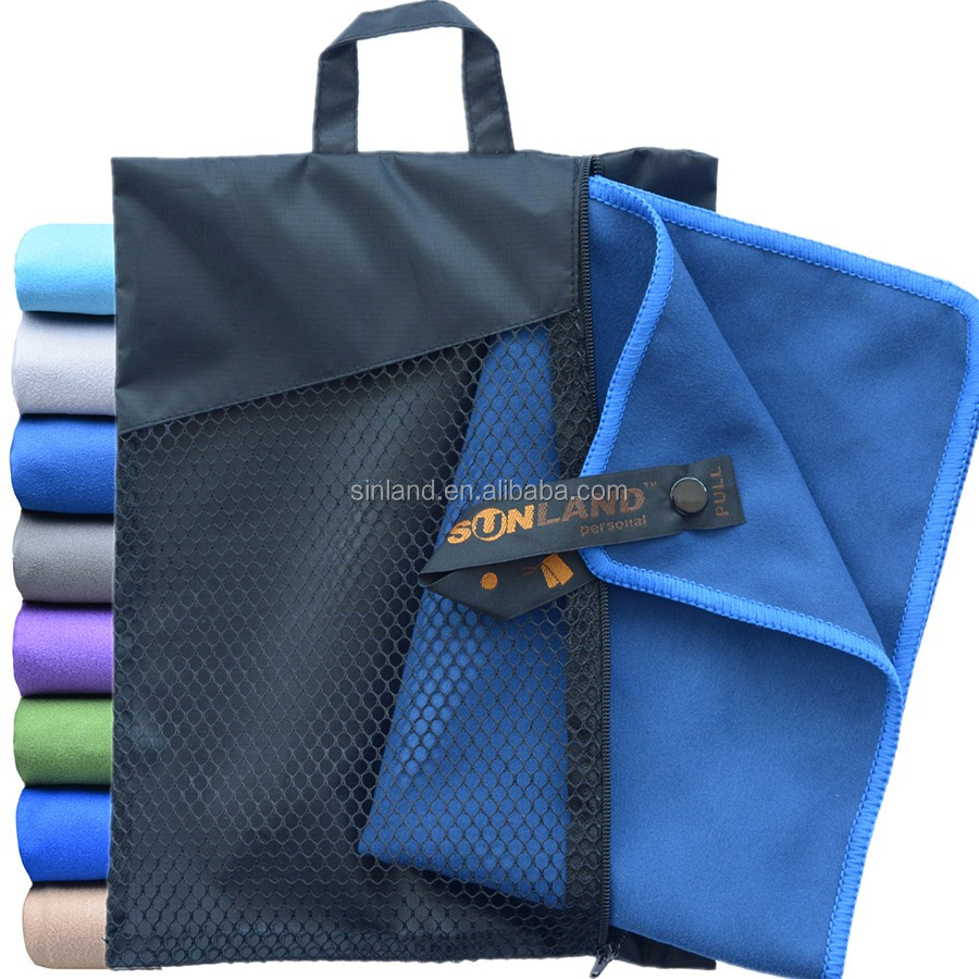 Sunland Wholesale Custom Ultra Compact Fast Drying Microfiber Gym Travel Sports Beach <strong>Towel</strong>