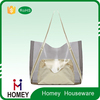 2 Piece Bag Set , Large Clear Tote Bag , PVC Beach Package Tote Handle Bag