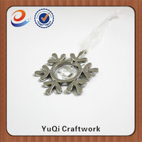 christmas hanging decoration snowflakes zinc alloy hanging ornament
