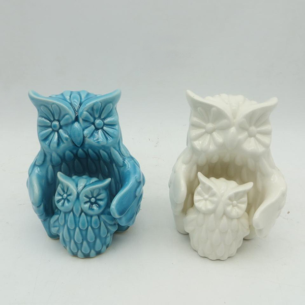 Delicate design stylish owl small animal figurines