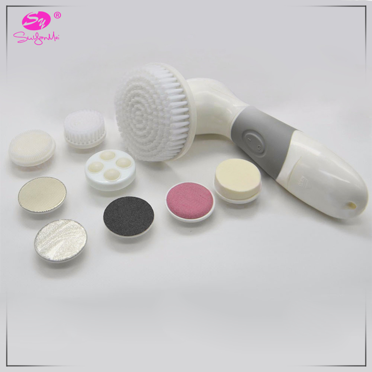 Bath natural fiber brush multi function exfoliating skin care tools sonic facial cleansing brush