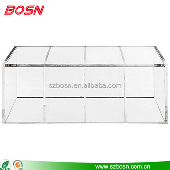 High quality 4 component acrylic box display stand lucite Perspex container