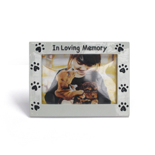 Square acrylic girl sample photo frame design full with dog paw prints