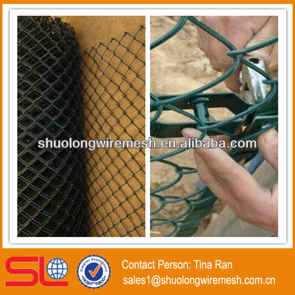 China Hebei BV Company decorative chain link fence/chain link fence covering