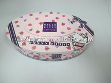 oval shape tin box
