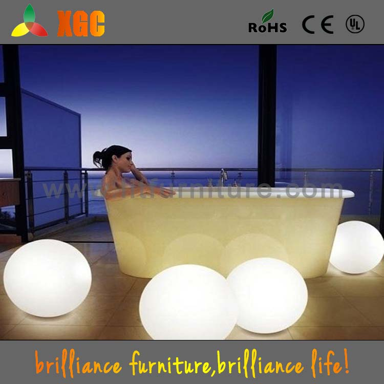 Multicolor remote control rechargeable plastic ball led light for home decoration