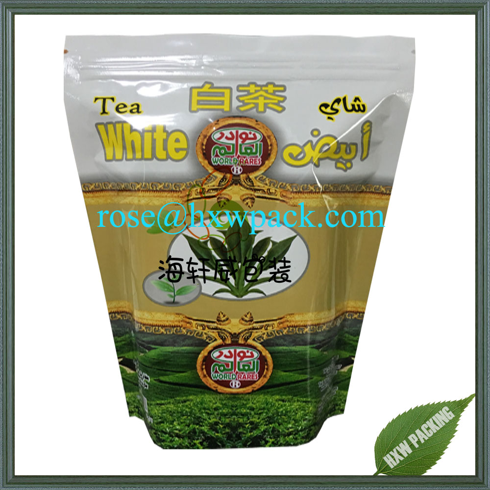 Wholesale custom PET/PE China gree tea package sachet with UV printing