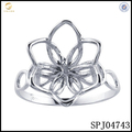 Unique pearl pendant mounting ring setting/ Flower shaped pearl pendant mountings