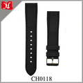 Watch Strap Custom Straps Width 18, 20, 22, 24mm Black Silicone Rubber Watch Bands with Silver Stainless