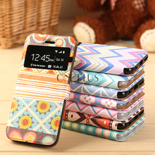 Geometric Pattern Phone Case For Iphone 6 6S PC Leather Flip Phone Case For Iphone 5 5s