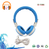 lightweight folding stereo over-ear headphones Portable stretchable leather headband headset with microphone and volume control