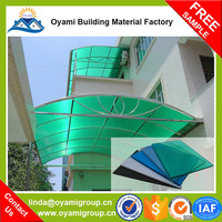 100% raw material plastic bayer solid polycarbonate embossed sheet