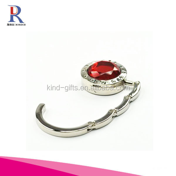 Crystal Round Shape with Rhinestone Handbag Hook Purse Wedding Gift