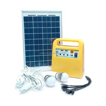 12V Portable Solar Power for Home Lighting System with 10W Solar Panel and 7AH Battery Inside