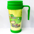Paper Insert plastic coffe travel mug double wall coffee cup