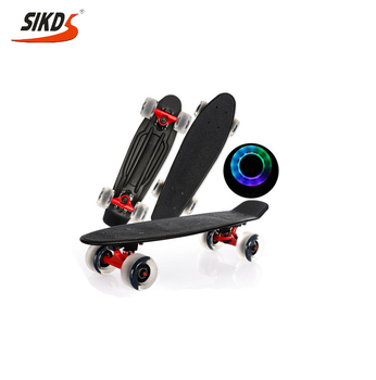 Wholesale 22inch plastic skateboard with griptape mini cruiser skateboard LED wheels