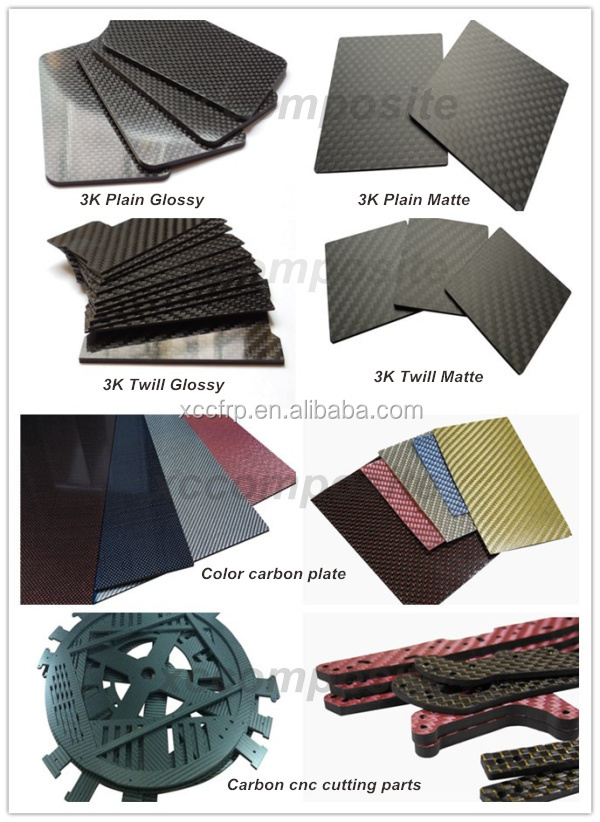 Custom Plain Weave Carbon Fiber flexible sheet 0.2mm 0.3mm