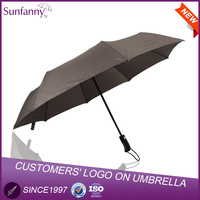 57cm*8k foldable auto open and and close umbrella, promotion 3 section umbrella,