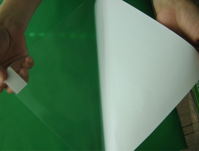 Transparent Self Adhesive Vinyl 80 micron pvc face film