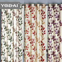 Luxury Design Sheer Spaghetti Chinese Style Printed Curtains