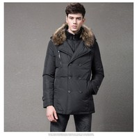 100% polyester fabric duck filled fox callor Mens jacket