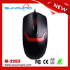 Customized Cheap optical best Computer Mouse Black Wired Mouse For sale