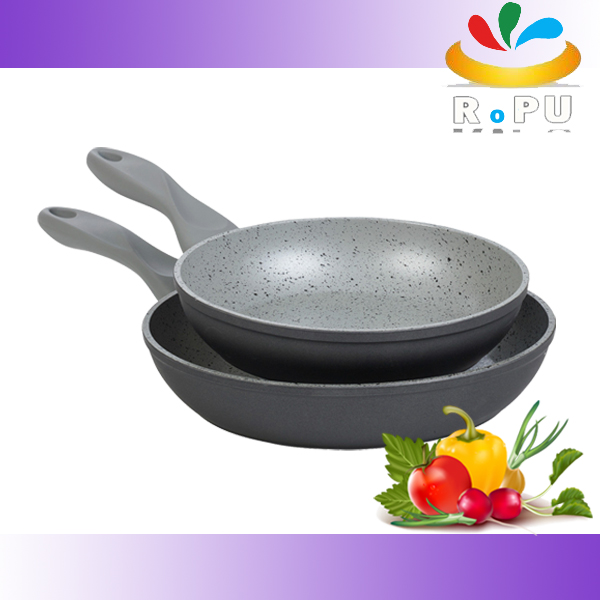 Hot selling forged stone coating cooking pan aluminum marble frying pan