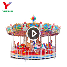12 Seats Luxury Carnival Horse Park Game Carrusel Machine Electric Backyard Carousel