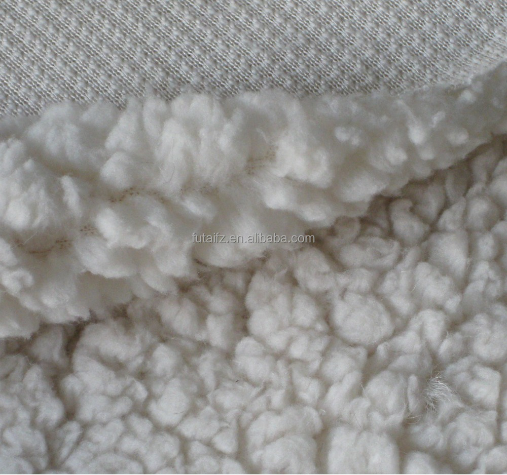 100% polyester sherpa fabric for baby blanket/qulit/bedding/garment lining
