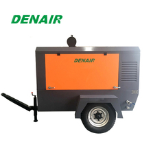 Portable 10m3 screw air compressor with diesel driven