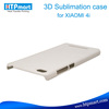 3D blank sublimation phone case transparent clear hard case for xiaomi 4i mi4i