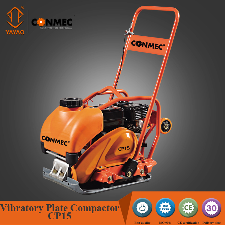 CONMEC efficient plate compactor tamper CP15 series with honda and robin engine
