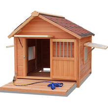 Outdoor Waterproof Dog Sitting House Pet Wooden Bedding Room