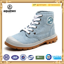2017 New Aquatwo Brand Wholesale White Canvas Shoes For Women