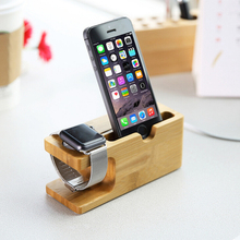 Wooden watch stand wood for iphone dock, for apple watch dock for apple watch stand