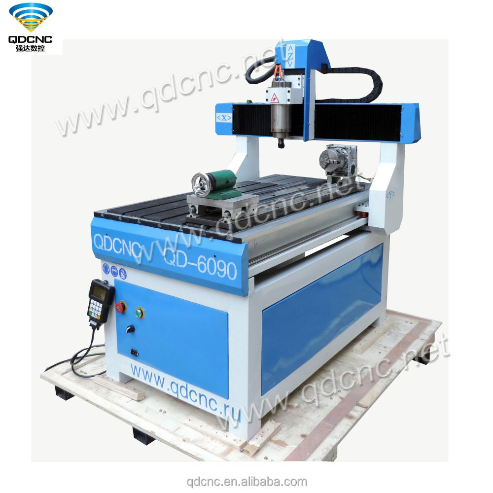 6090 rotary cnc router 4 axis small engraving machine QD-6090R