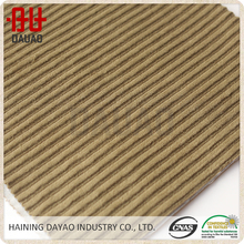 High quality durable stripe brushed corduroy sofa fabric