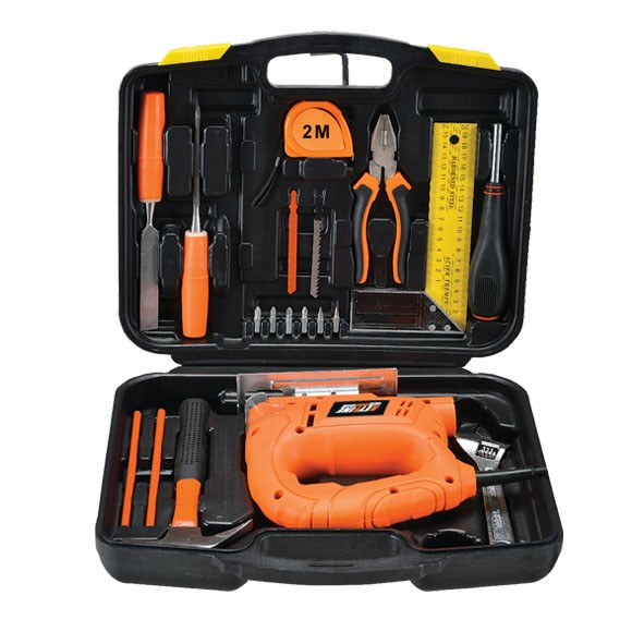 HOT SALES POWER TOOL SET FOR HOUSEHOLD TOOL APPLICATION JIG SAW SET WITH 20PCS TOOL KITS FROM CHINA