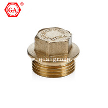 Reliable copper threaded male plug fittings for pex or pe pipe