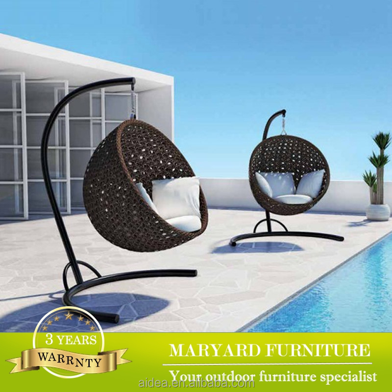 outdoor garden wicker hanging chair rattan patio swing egg shaped swingchair