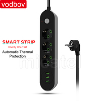 vodbov Europe Extension Socket with Usb Switch Socket Outlet Function Power Stripe Socket