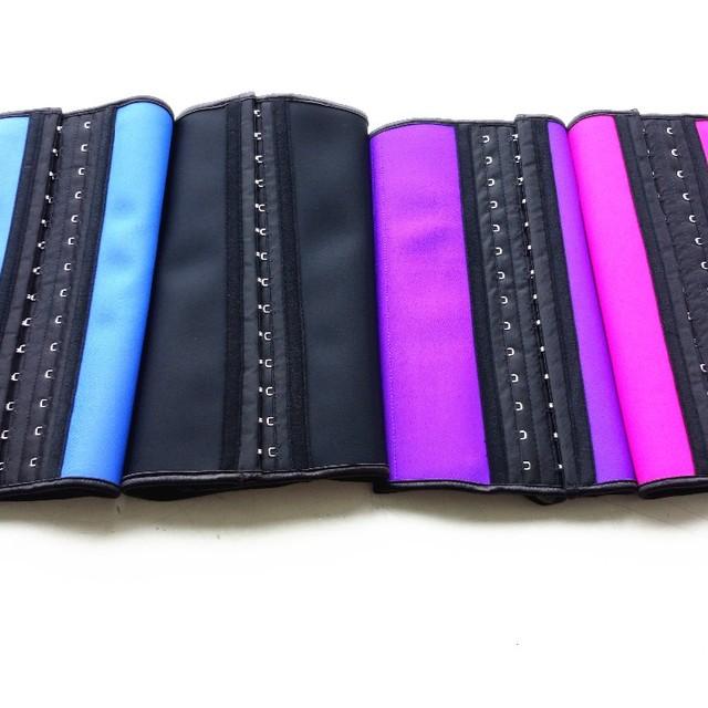 Drop shipping latex waist 6XL corset body shaper black color