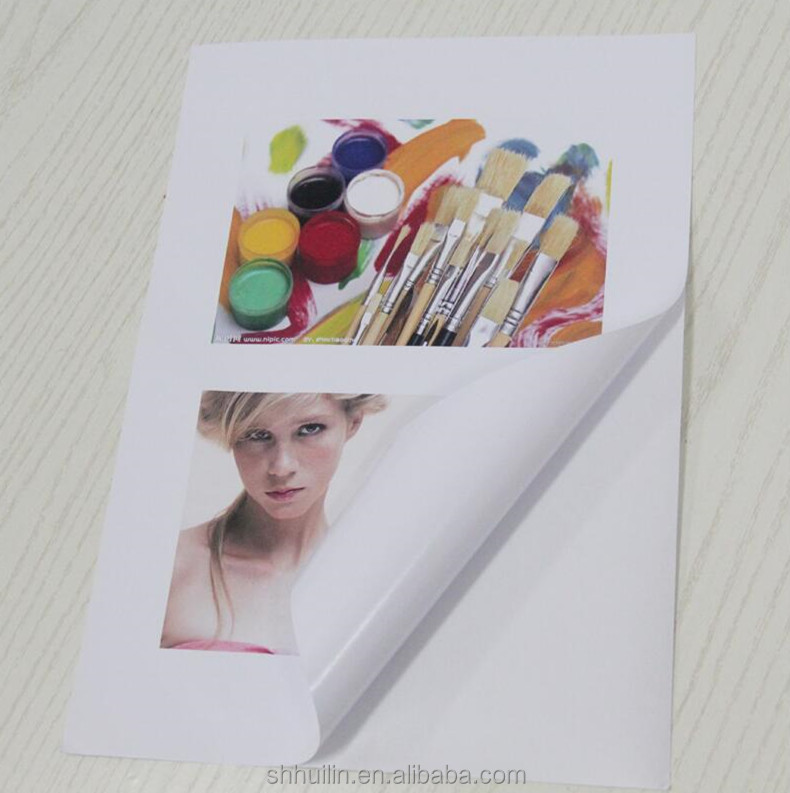 Best quality matte self adhesive a4 printing paper for inkjet printer
