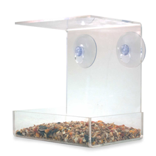 Easy To Clean With Removable 2 Heavy Duty Suction Cups Squirrel Proof Window Humming Acrylic Bird Seed House Feeder Wholesale
