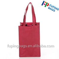 Factory selling non woven wine bag tote beer bottle bag for promotional with printing