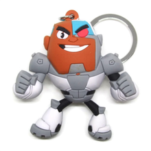 ICTI factory Custom 3D Figural Keyring Series CYBORG KEYCHAIN Cartoon Network