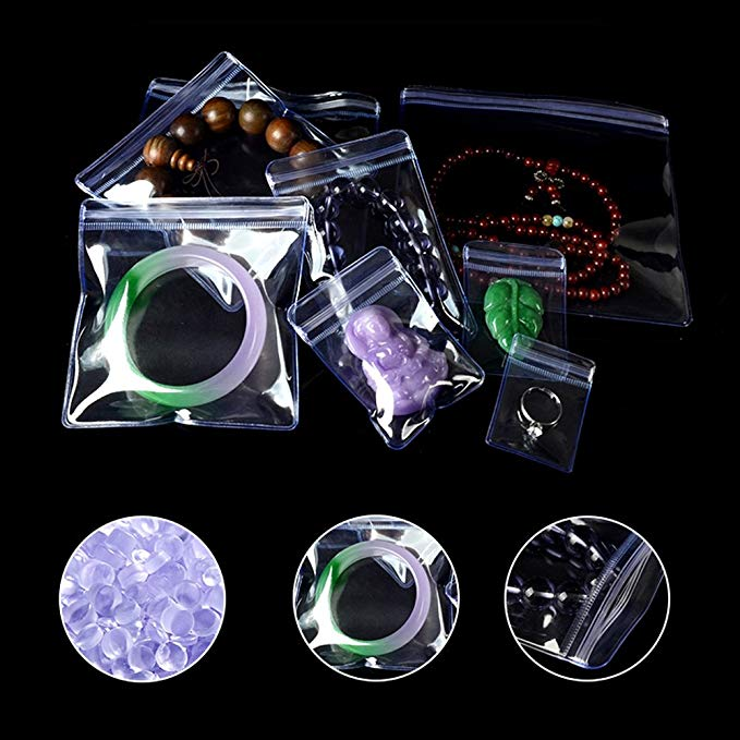 China factory pvc plastic zip lock ornament jewelry pack bag
