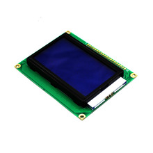 128x64 Dots Blue Graphic LCD Module /12864 5V With Backlight ST7920 driver IC serial port